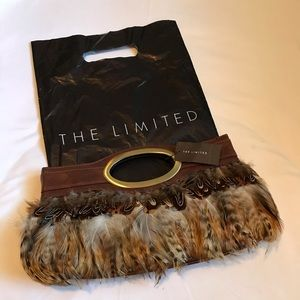 The Limited genuine Feather Clutch